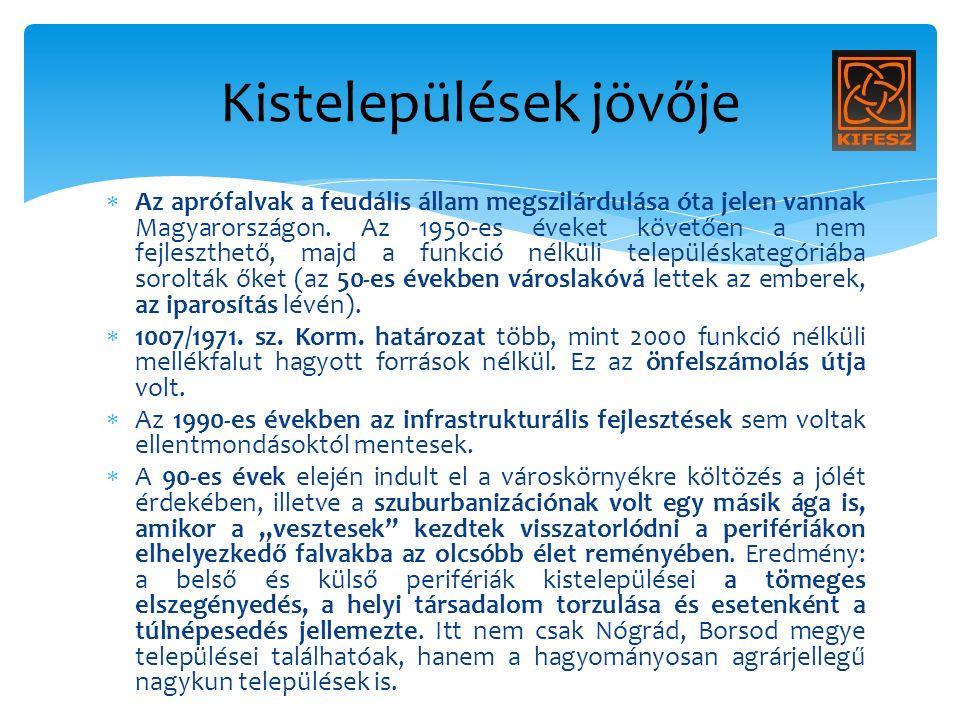  Az aprófalvak a feudális állam megszilárdulása óta jelen vannak Magyarországon.