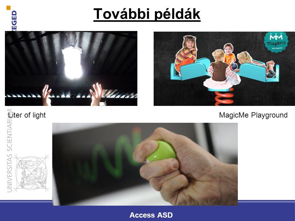 További példák Liter of lightMagicMe Playground Access ASD