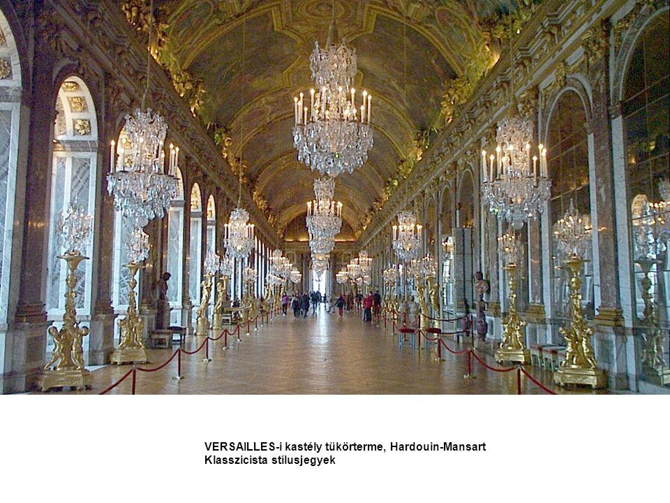 VERSAILLES-i kastély tükörterme, Hardouin-Mansart Klasszicista stílusjegyek
