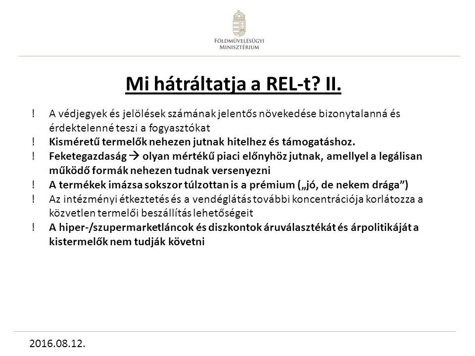 Mi hátráltatja a REL-t. II.