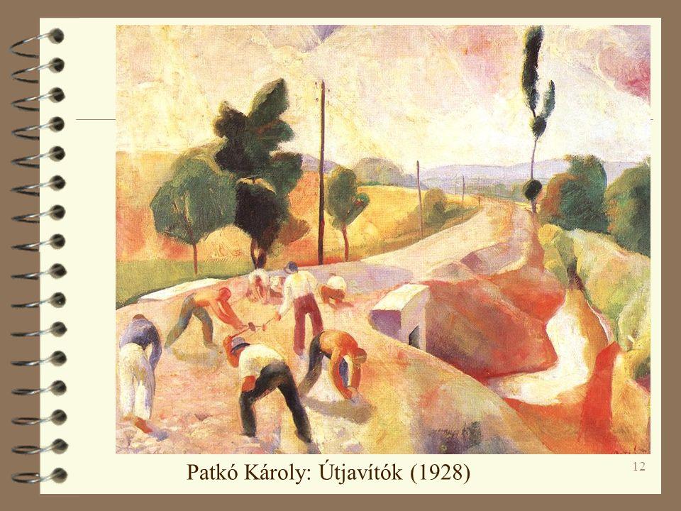 12 Patkó Károly: Útjavítók (1928)