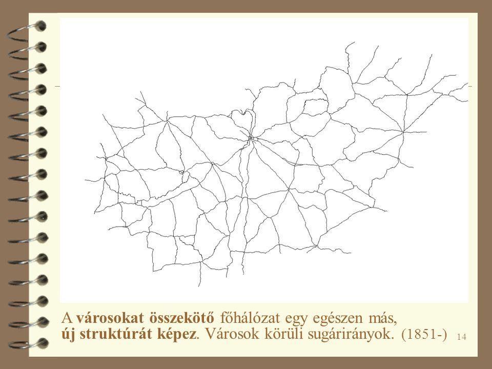 14 A városokat összekötő főhálózat egy egészen más, új struktúrát képez.