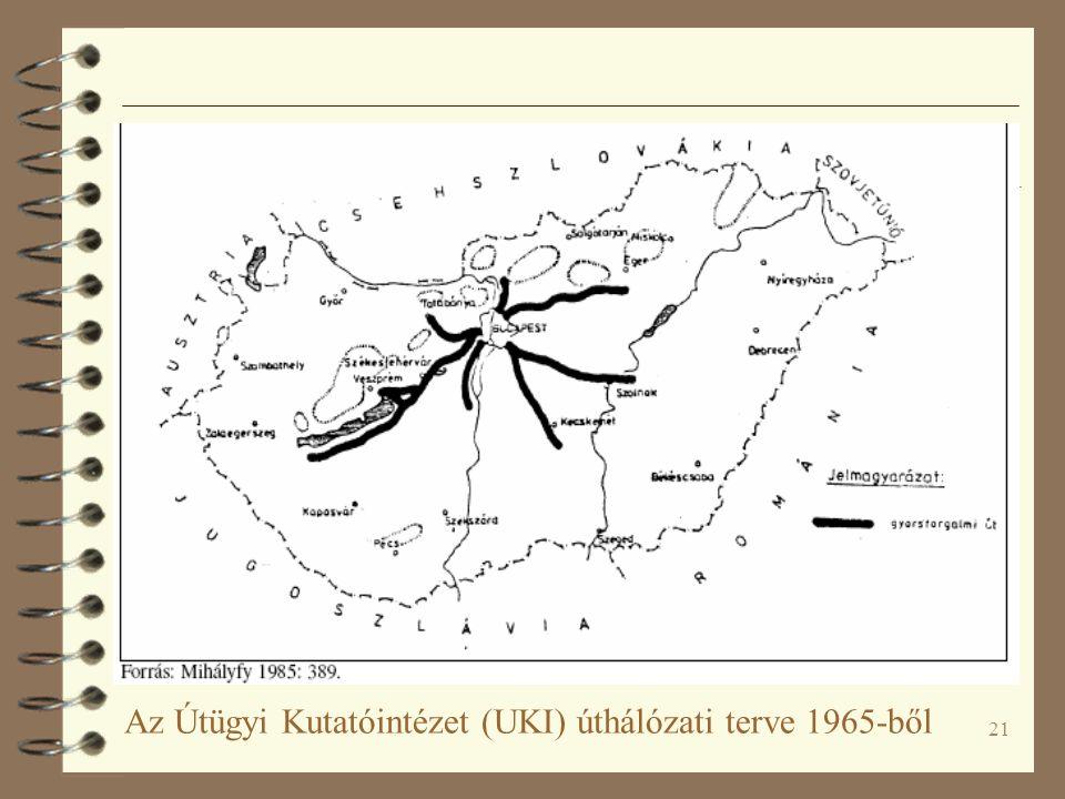 21 Az Útügyi Kutatóintézet (UKI) úthálózati terve 1965-ből