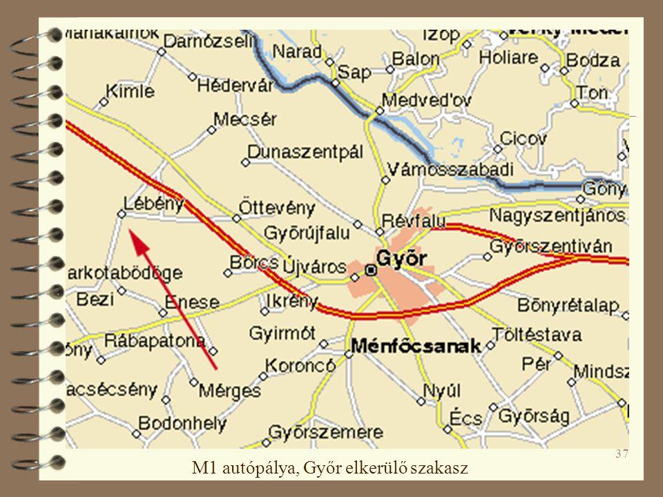 37 M1 autópálya, Győr elkerülő szakasz