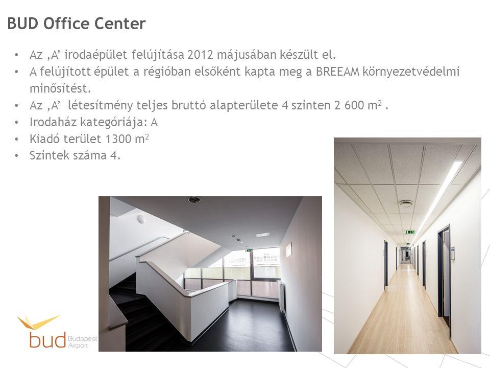 BUD Office Center Az 'A' irodaépület felújítása 2012 májusában készült el.