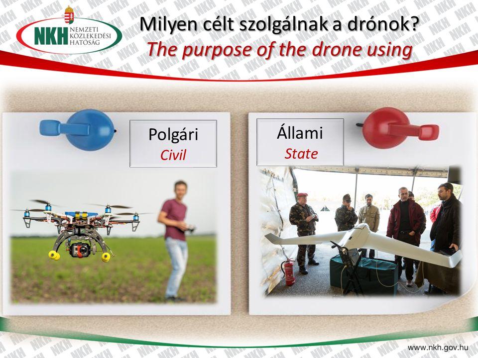 Milyen célt szolgálnak a drónok? The purpose of the drone using Polgári Civil Állami State