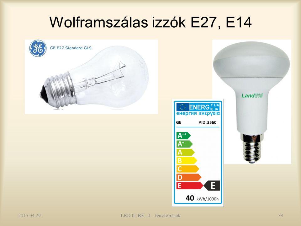Wolframszálas izzók E27, E14 2015.04.29.LED IT BE - 1 - fényforrások33