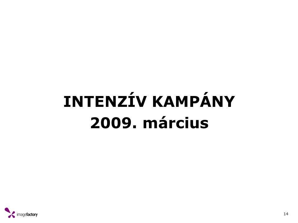 14 INTENZÍV KAMPÁNY 2009. március