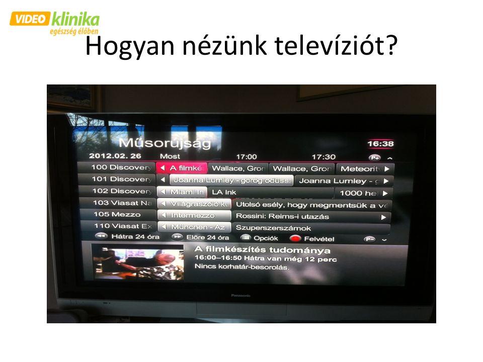 Hogyan nézünk televíziót?