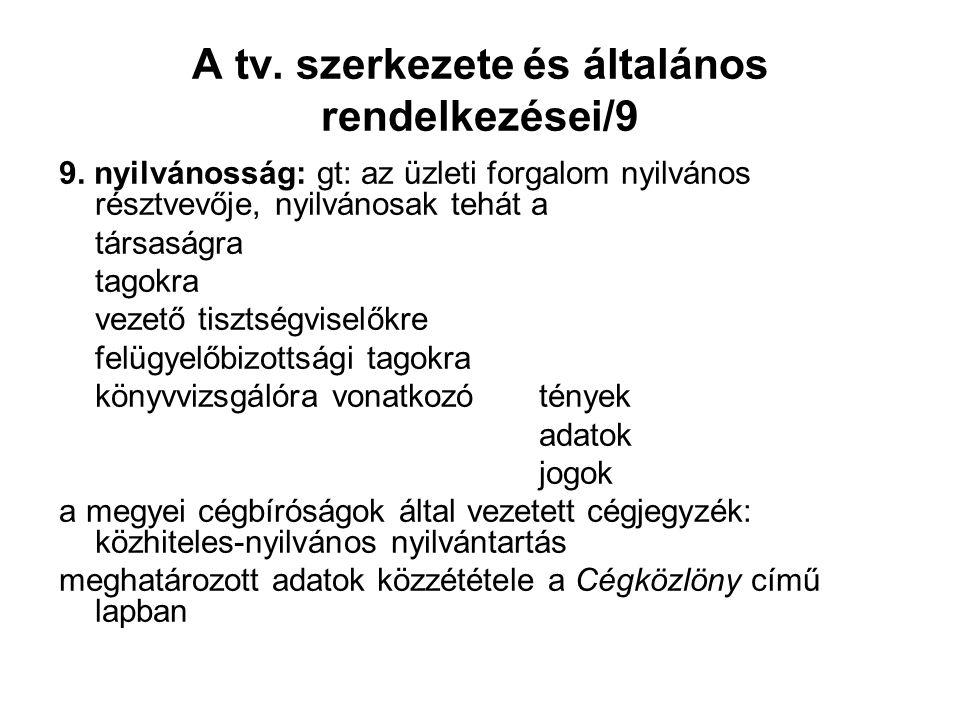 A tv. szerkezete és általános rendelkezései/9 9.