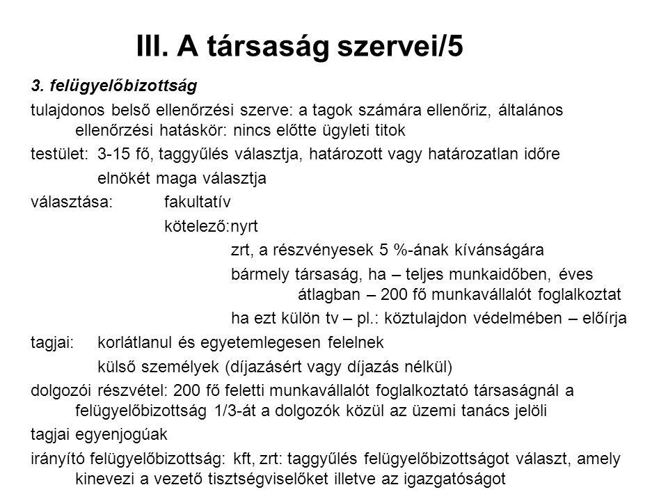 III. A társaság szervei/5 3.