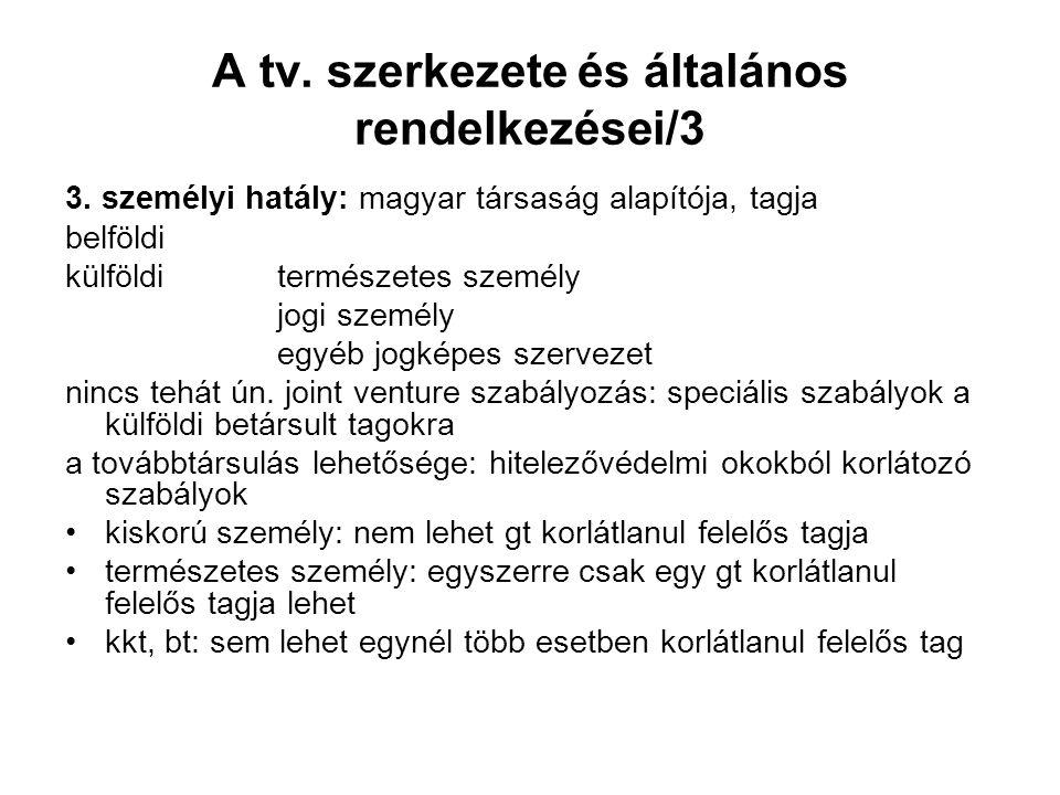 A tv. szerkezete és általános rendelkezései/3 3.