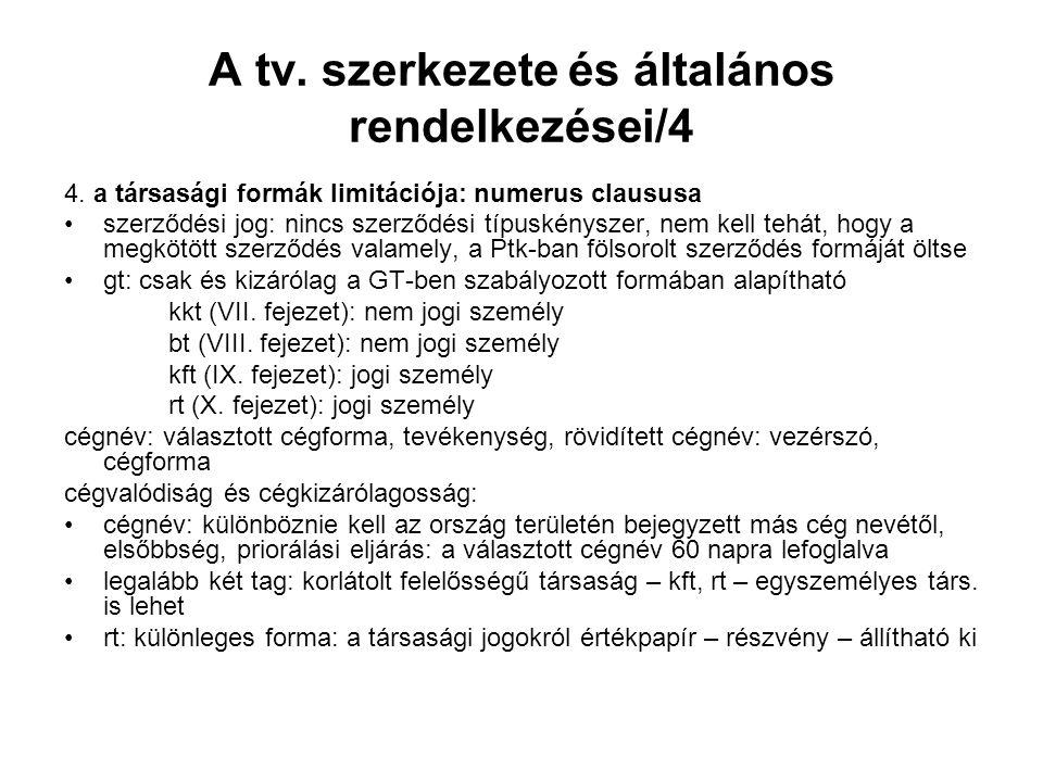 A tv. szerkezete és általános rendelkezései/4 4.