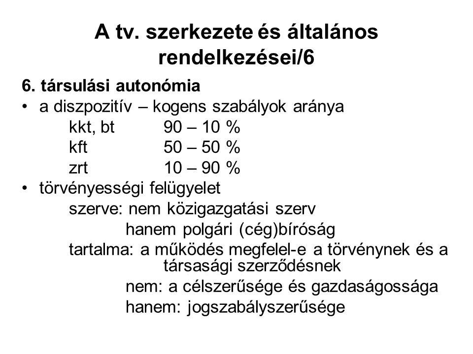 A tv. szerkezete és általános rendelkezései/6 6.