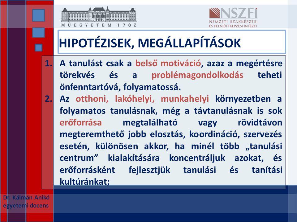 HIPOTÉZISEK, MEGÁLLAPÍTÁSOK Dr.
