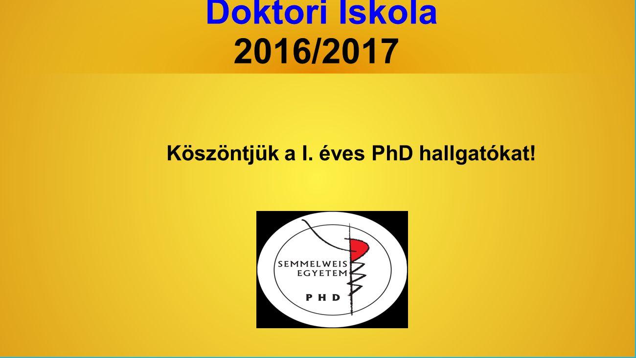 Doktori Iskola Hivatala www.phd.semmelweis.hu Tanulmányi és gazdasági ügyek intézése: Ügyfélfogadás: hétfő: zárva kedd, csütörtök, péntek: 08:30-12:00 szerda: 13:00- 16:00 Ti