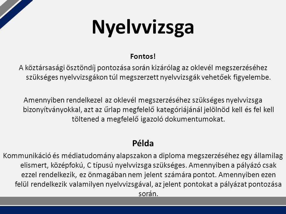 Nyelvvizsga Fontos.