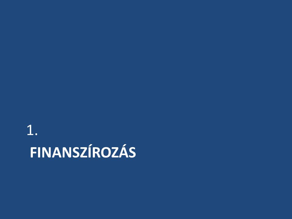 FINANSZÍROZÁS 1.