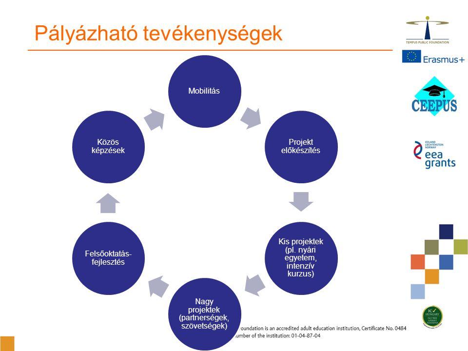Mobilitás Projekt előkészítés Kis projektek (pl.