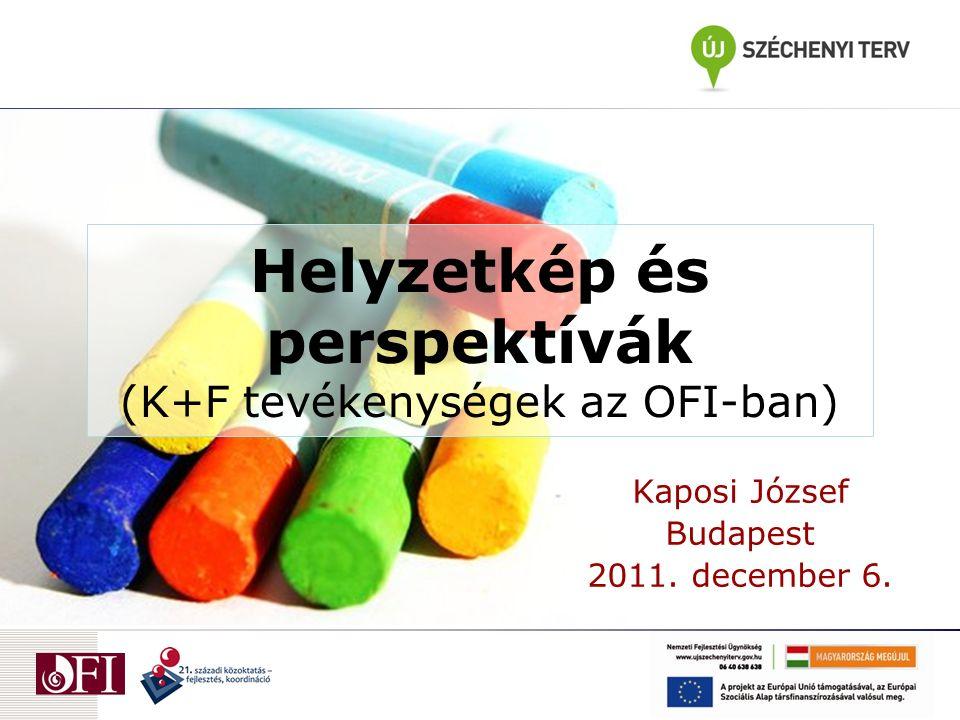 Helyzetkép és perspektívák (K+F tevékenységek az OFI-ban) Kaposi József Budapest 2011. december 6.