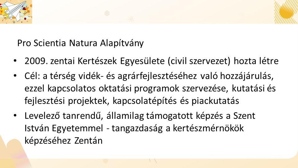 Pro Scientia Natura Alapítvány 2009.