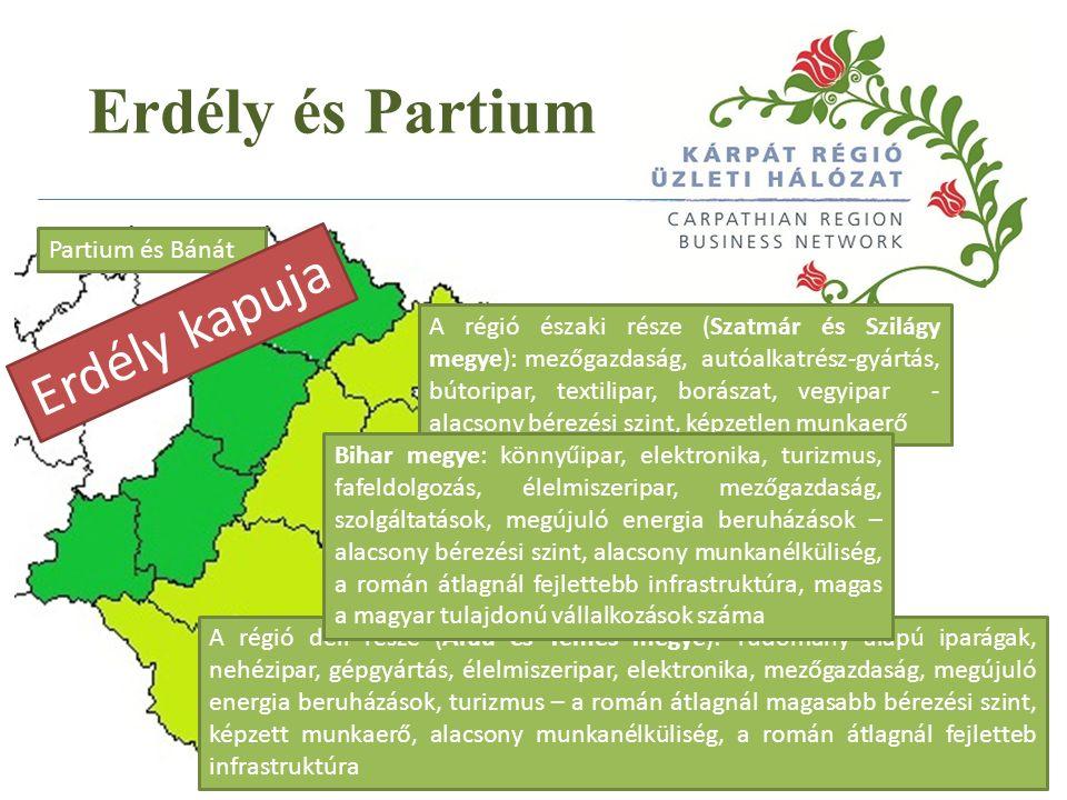 Erdély és Partium Közép Erdély - Kolozsvár Infrastruktúra Nagy piac Képzett munkaerő Erdély szíve