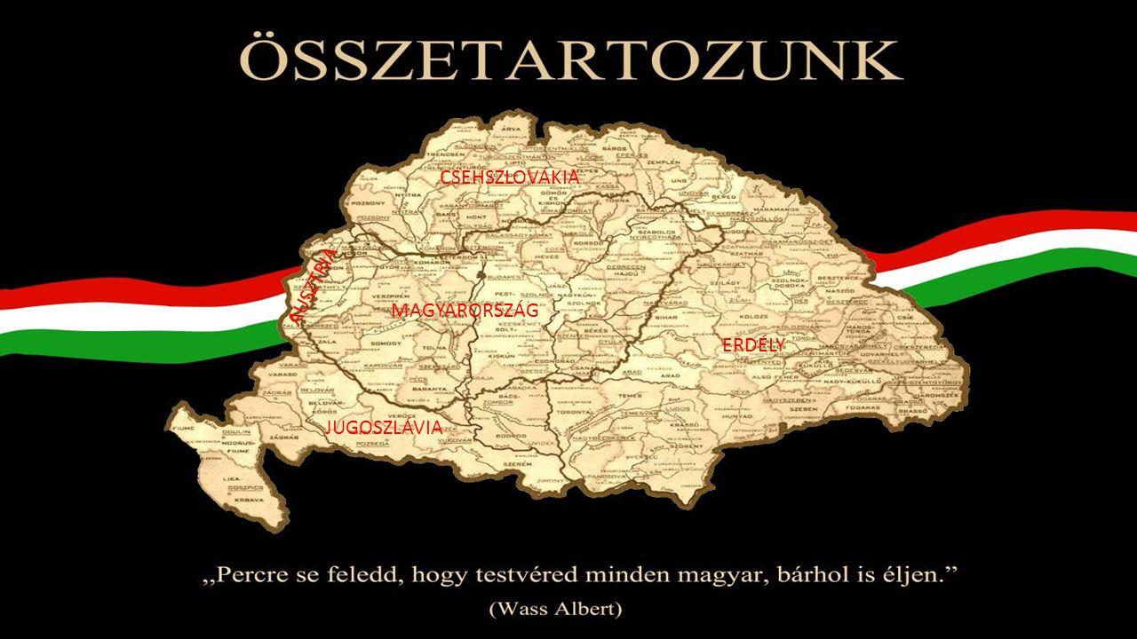 MAGYARORSZÁG ERDÉLY CSEHSZLOVÁKIA AUSZTRIA JUGOSZLÁVIA