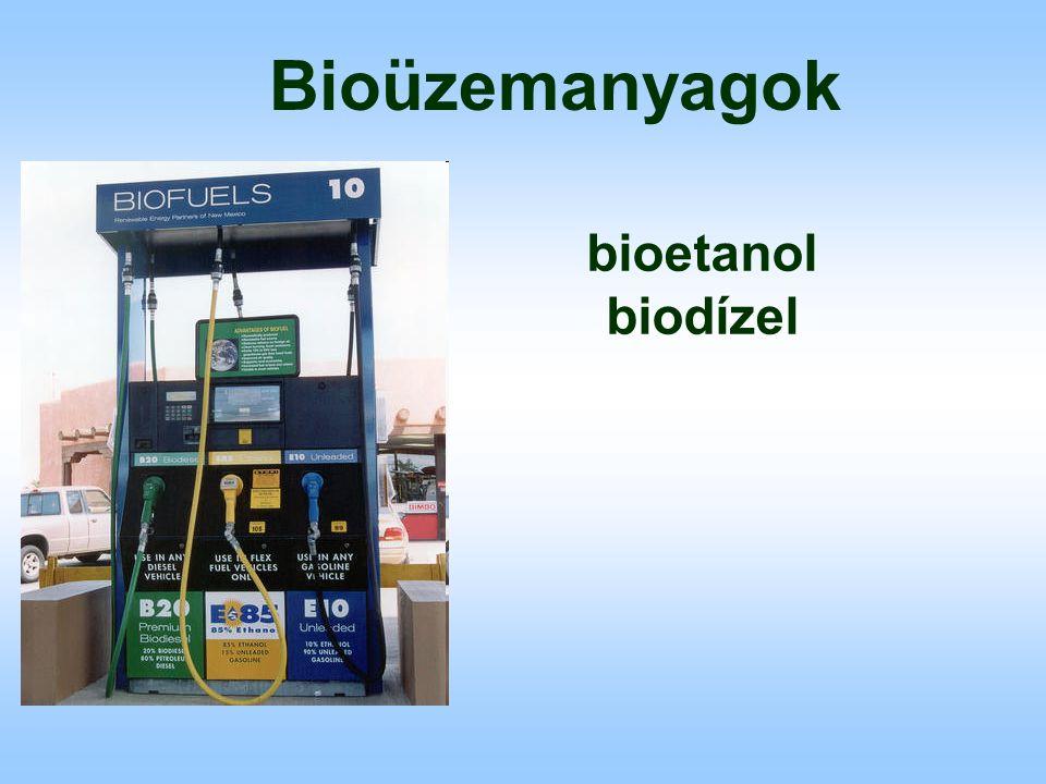 Bioüzemanyagok bioetanol biodízel