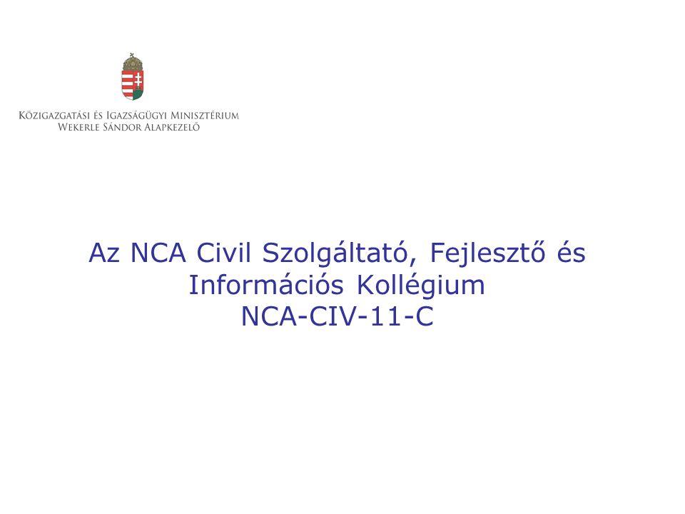 Az NCA Civil Szolgáltató, Fejlesztő és Információs Kollégium NCA-CIV-11-C