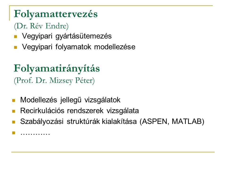 Folyamatirányítás (Prof. Dr.