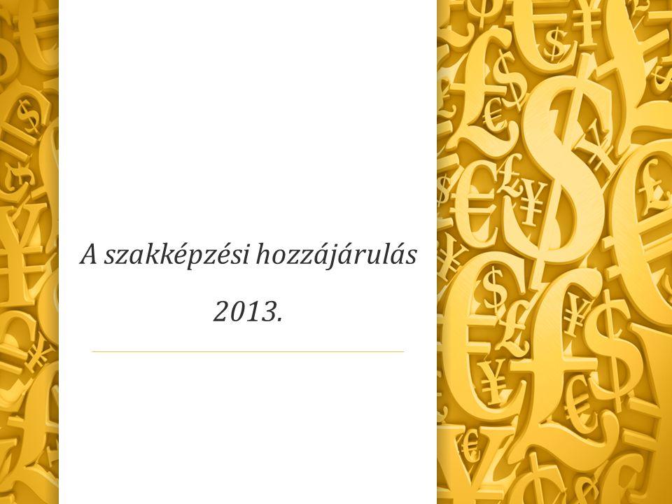 A szakképzési hozzájárulás 2013.
