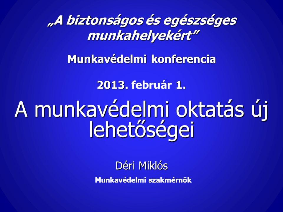 """""""A biztonságos és egészséges munkahelyekért Munkavédelmi konferencia 2013."""