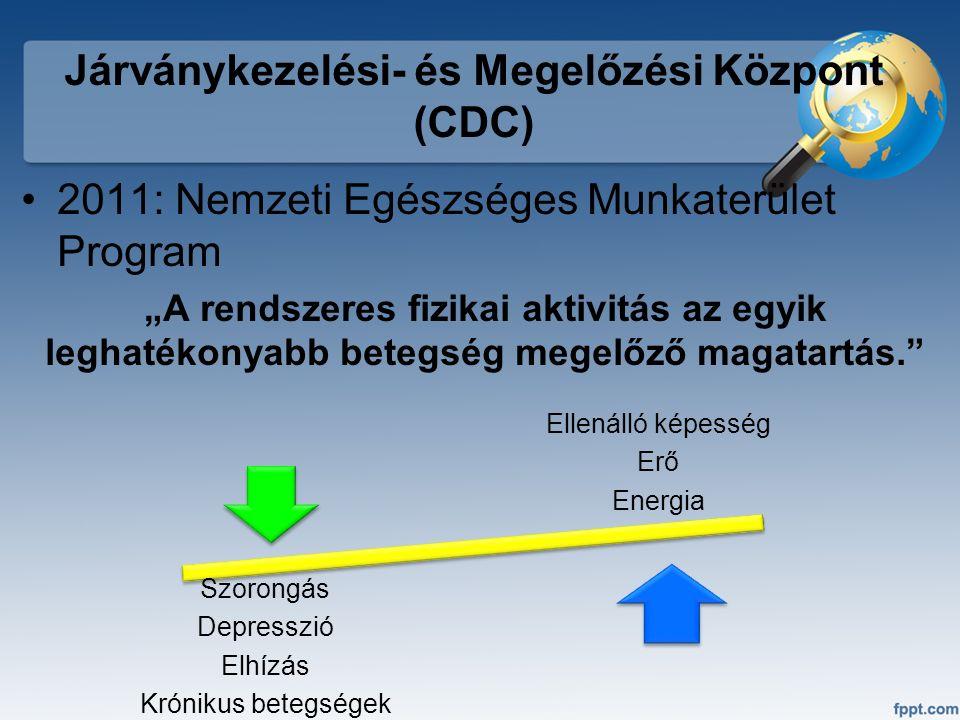 """Járványkezelési- és Megelőzési Központ (CDC) 2011: Nemzeti Egészséges Munkaterület Program """"A rendszeres fizikai aktivitás az egyik leghatékonyabb bet"""