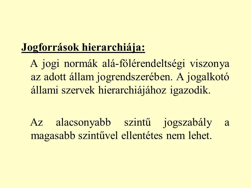 3. A jogszabályok szerkezeti elemei: -hipotézis, -diszpozíció, -szankció. 15