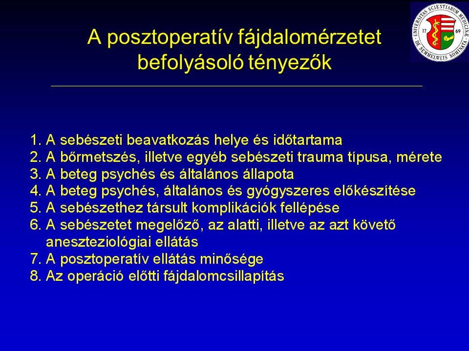 A posztoperatív fájdalomérzetet befolyásoló tényezők