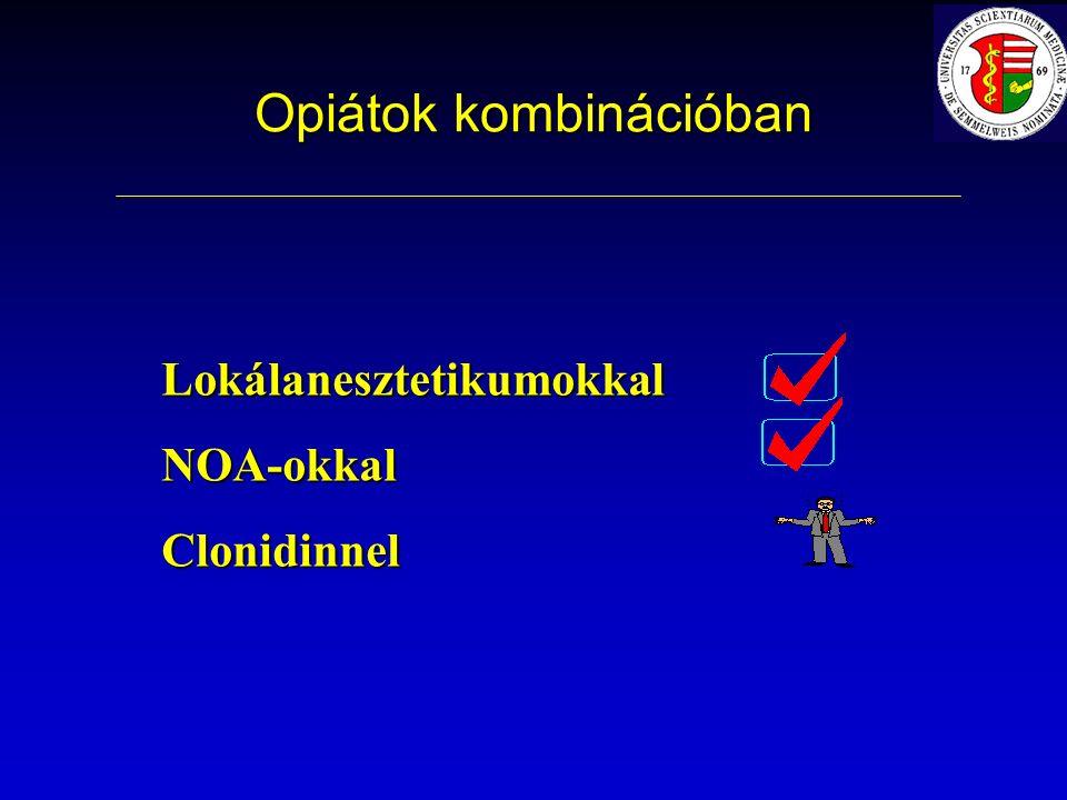 Opiátok kombinációban LokálanesztetikumokkalNOA-okkalClonidinnel