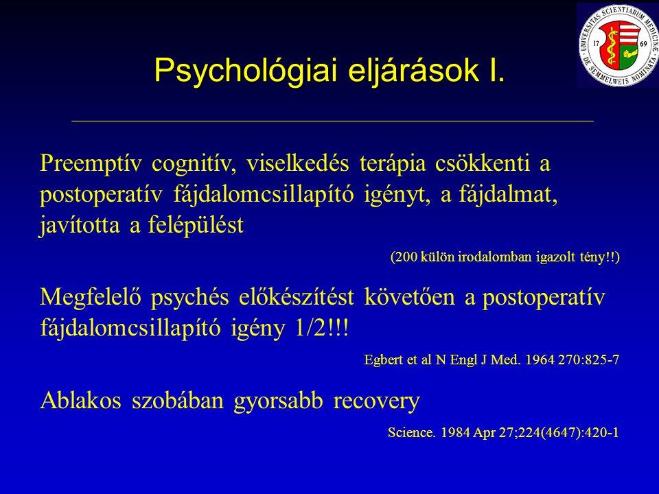 Psychológiai eljárások I.
