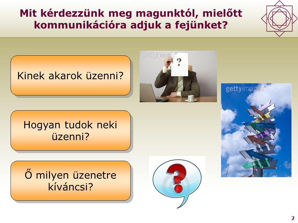 2 Mit kérdezzünk meg magunktól, mielőtt kommunikációra adjuk a fejünket.