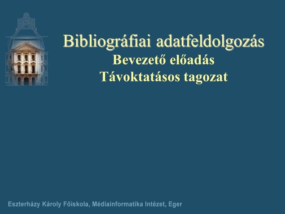A leíró katalógus funkciói 2.