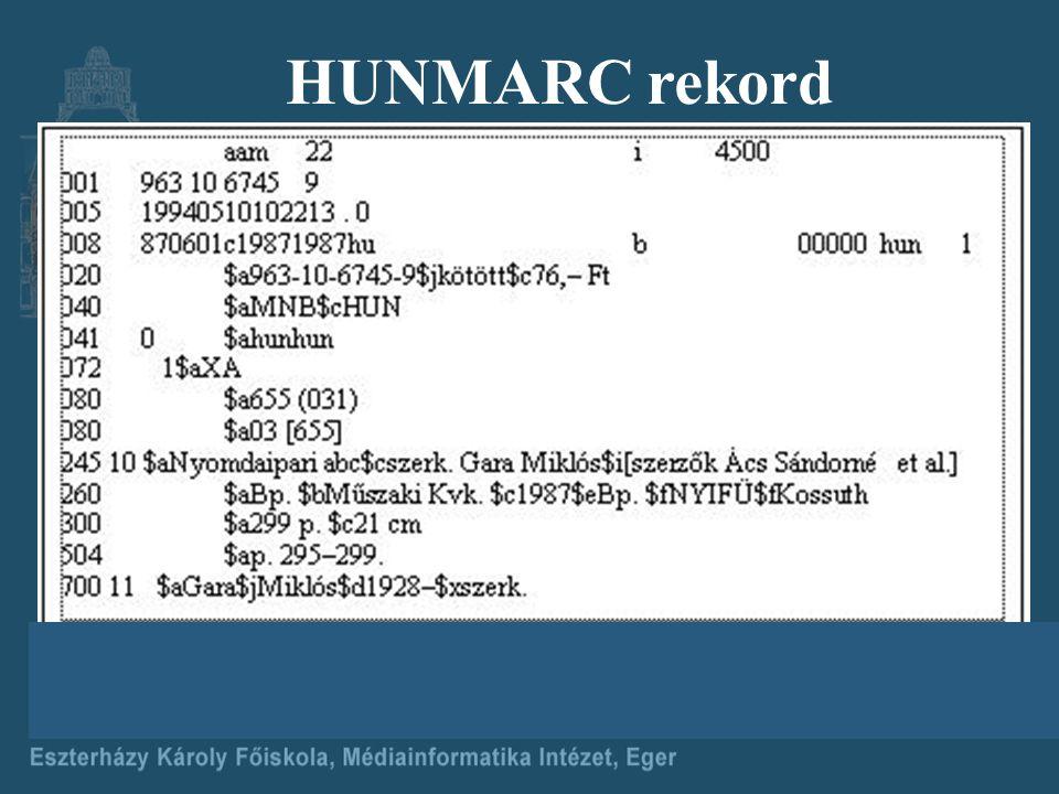 HUNMARC rekord