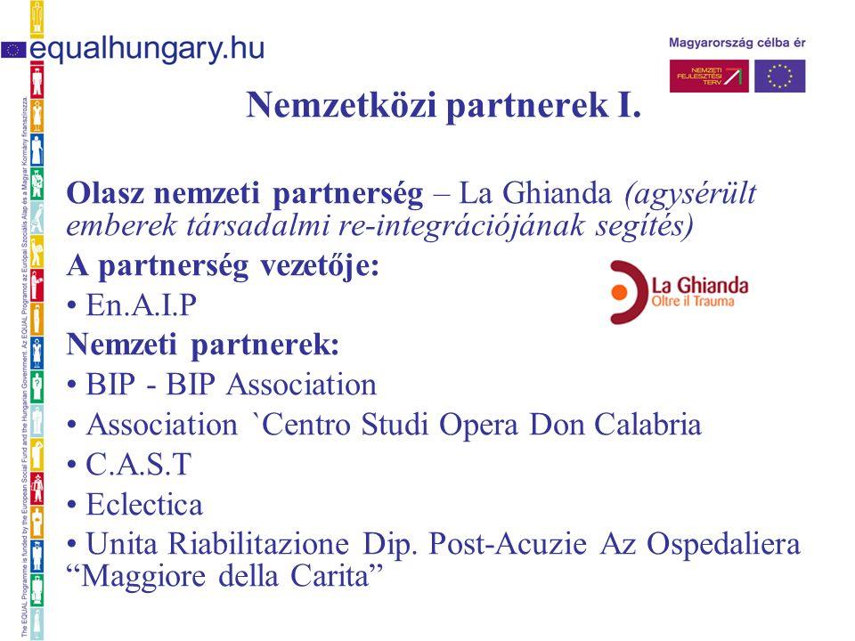 Nemzetközi partnerek I.