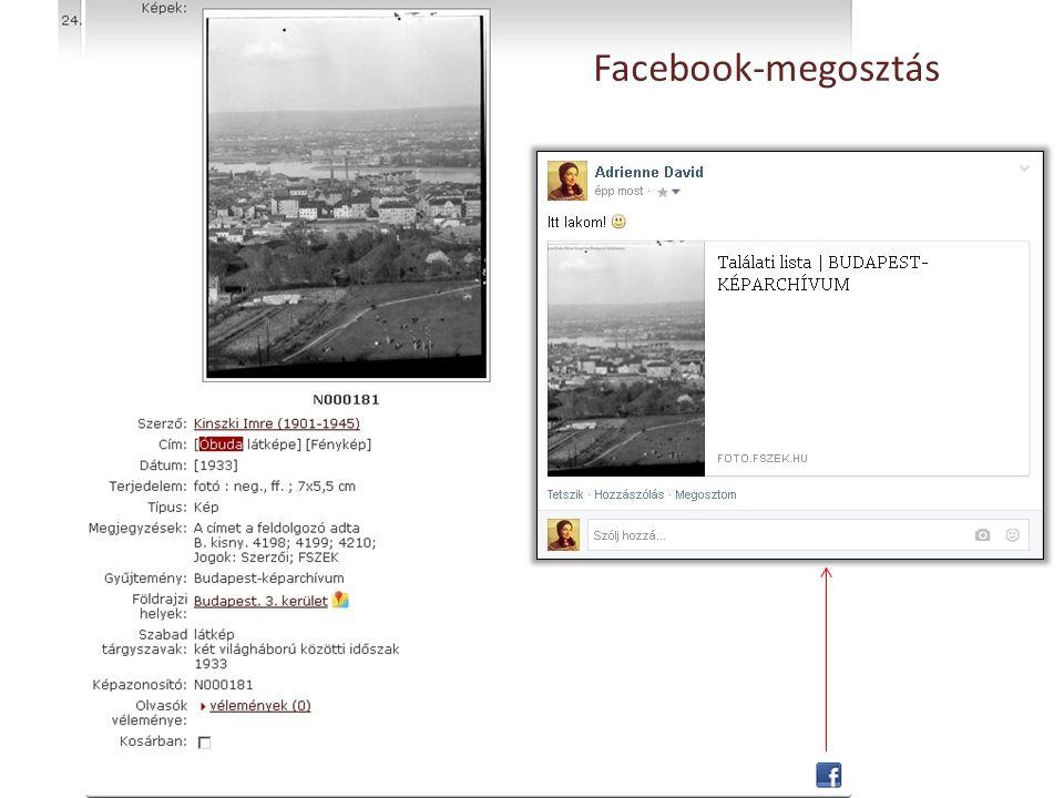 Facebook-megosztás
