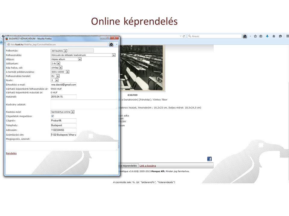 Online képrendelés