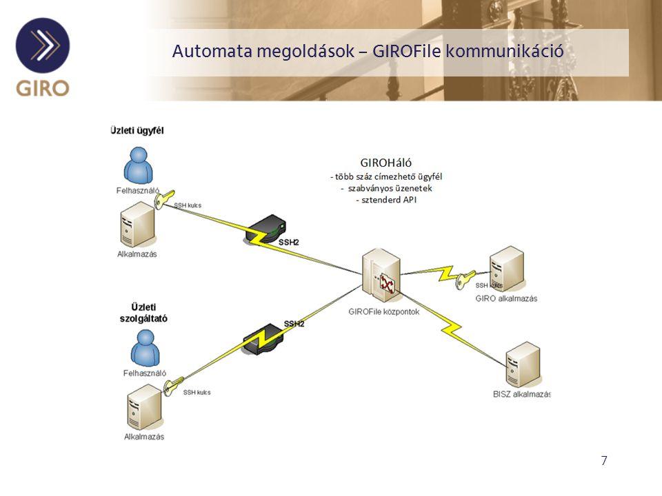 7 Automata megoldások – GIROFile kommunikáció
