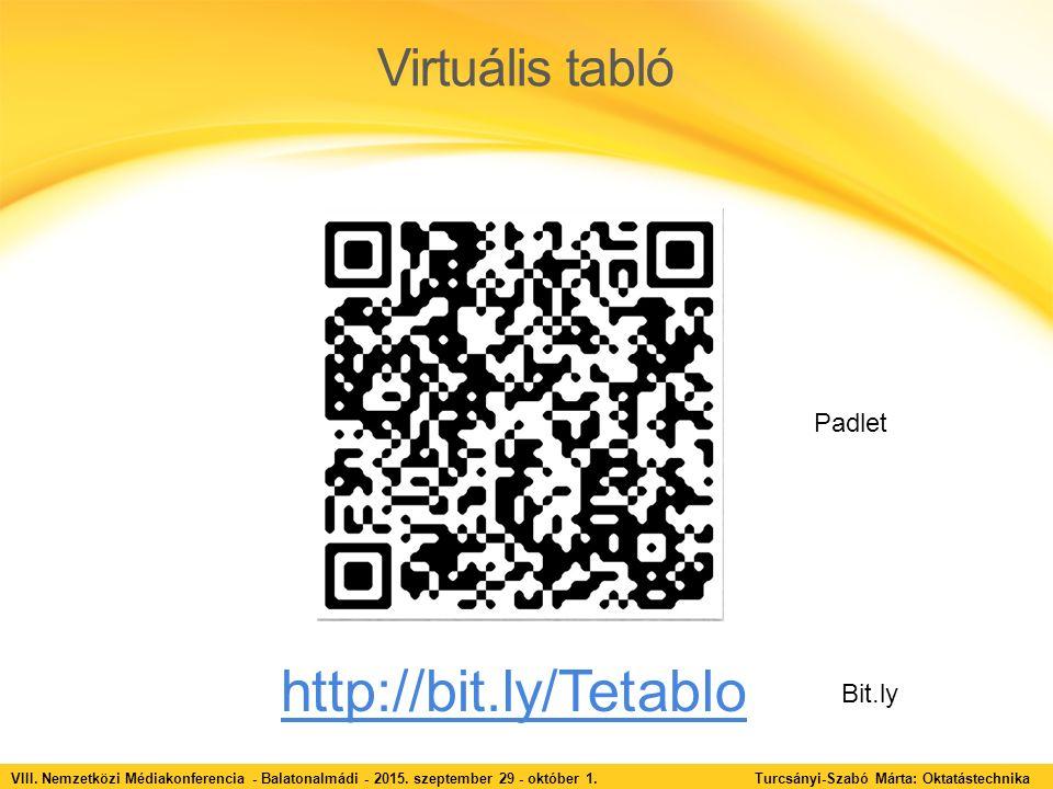 Virtuális tabló VIII. Nemzetközi Médiakonferencia - Balatonalmádi - 2015.