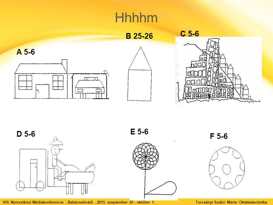 Hhhhm VIII. Nemzetközi Médiakonferencia - Balatonalmádi - 2015. szeptember 29 - október 1. Turcsányi-Szabó Márta: Oktatástechnika A 5-6 B 25-26 C 5-6