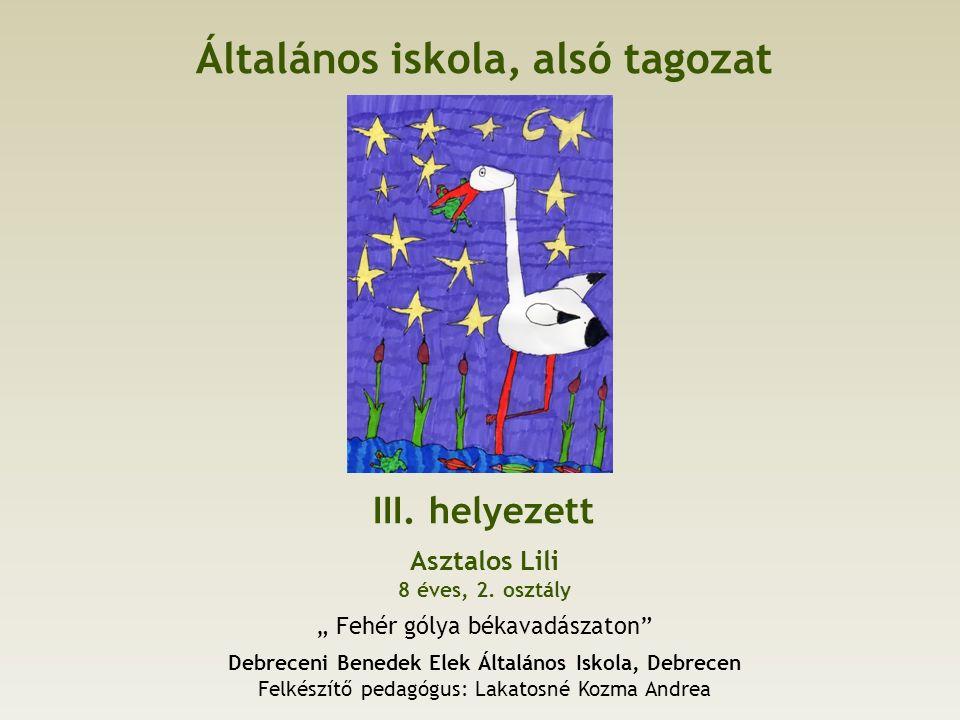 Általános iskola, alsó tagozat III. helyezett Asztalos Lili 8 éves, 2.