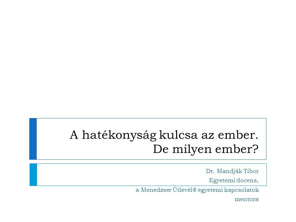 Vázlat 2013.03.08.Mandják: A hatékonyság kulcsa, Győr  A hatékonyság és az ember (Néhány bevezető gondolat)  A Menedzser Útlevél létrejötte  Hogyan segítheti a Menedzser Útlevél a vállalati hatékonyságot 2