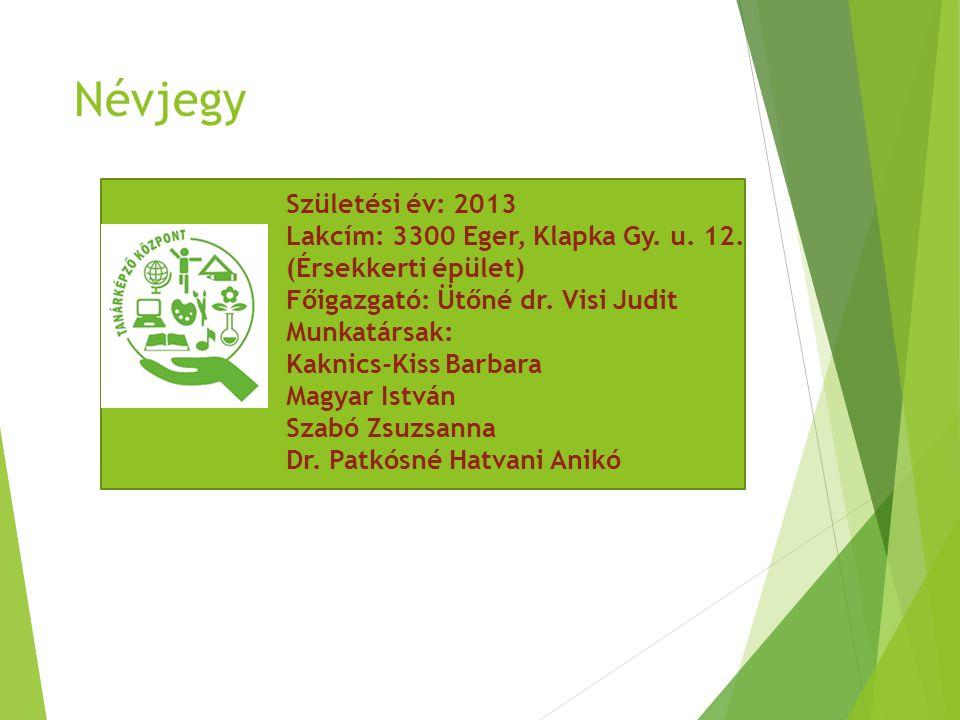 Névjegy Születési év: 2013 Lakcím: 3300 Eger, Klapka Gy.