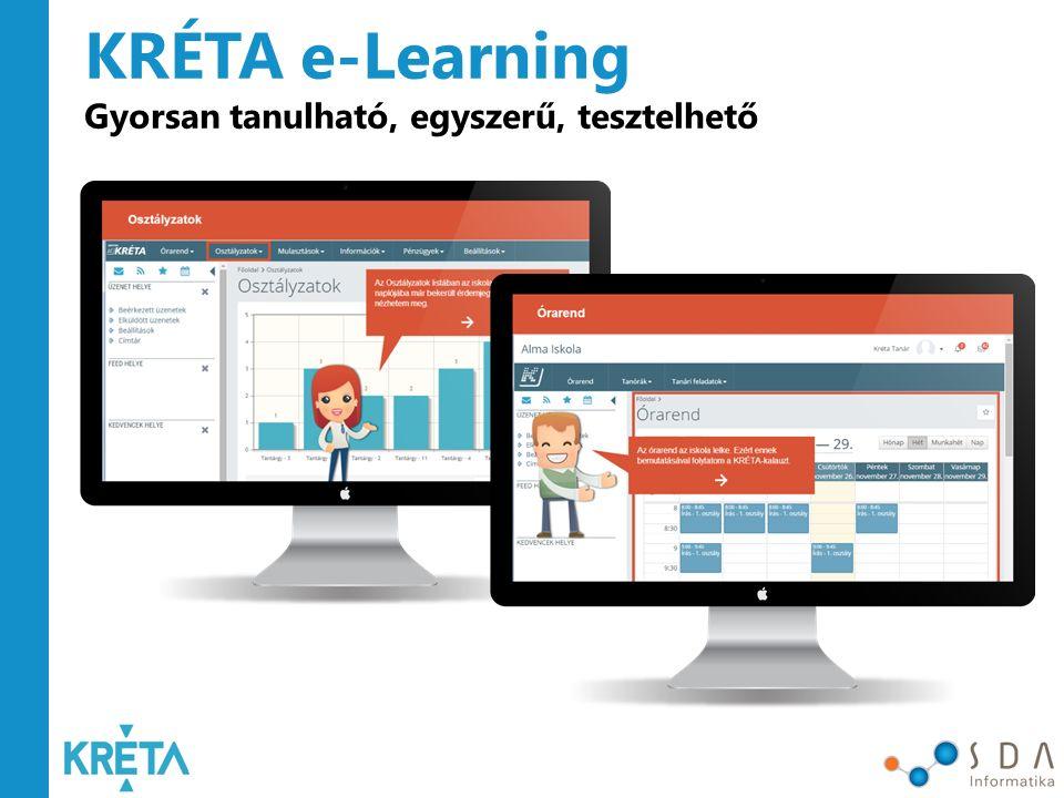 KRÉTA Terméktámogatás Ügyfélszolgálat és támogatás e-Learning Oktatások, képzések, workshopok Gyakran Ismételt Kérdések Jogszabálykövetés Rendszeres frissítések
